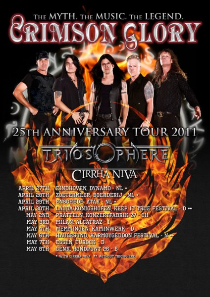 Crimson Glory - 25th Anniversary Tour 2011 poster