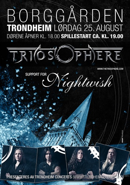 Triosphere plays support for Nightwish